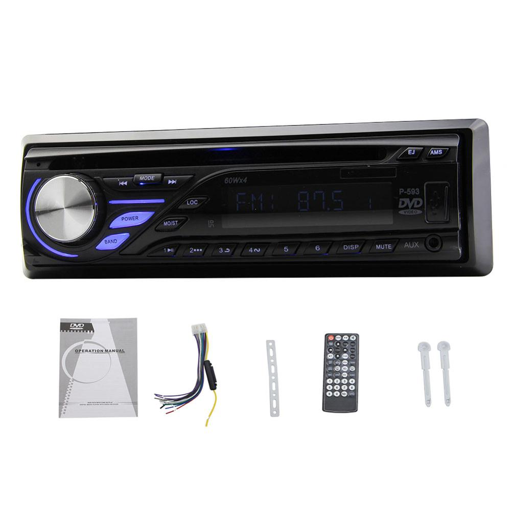 1 Din Car Autoradio In Dash Stereo Radio Automotive Vehicle SD/USB AM/FM Tuner Audio music CD DVD MP3 Player Detachable Panel car headrest 2 pieces monitor cd dvd player autoradio black 9 inch digital screen zipper car monitor usb sd fm tv game ir remote