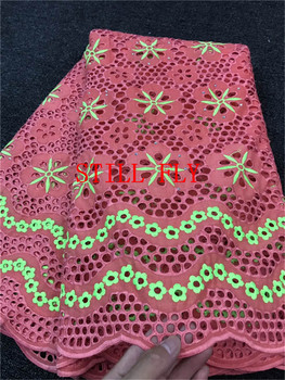 Swiss voile lace in switzerland high quality lace fashion cotton voile lace with stones 100cottn dubai fabric 5yards/lot