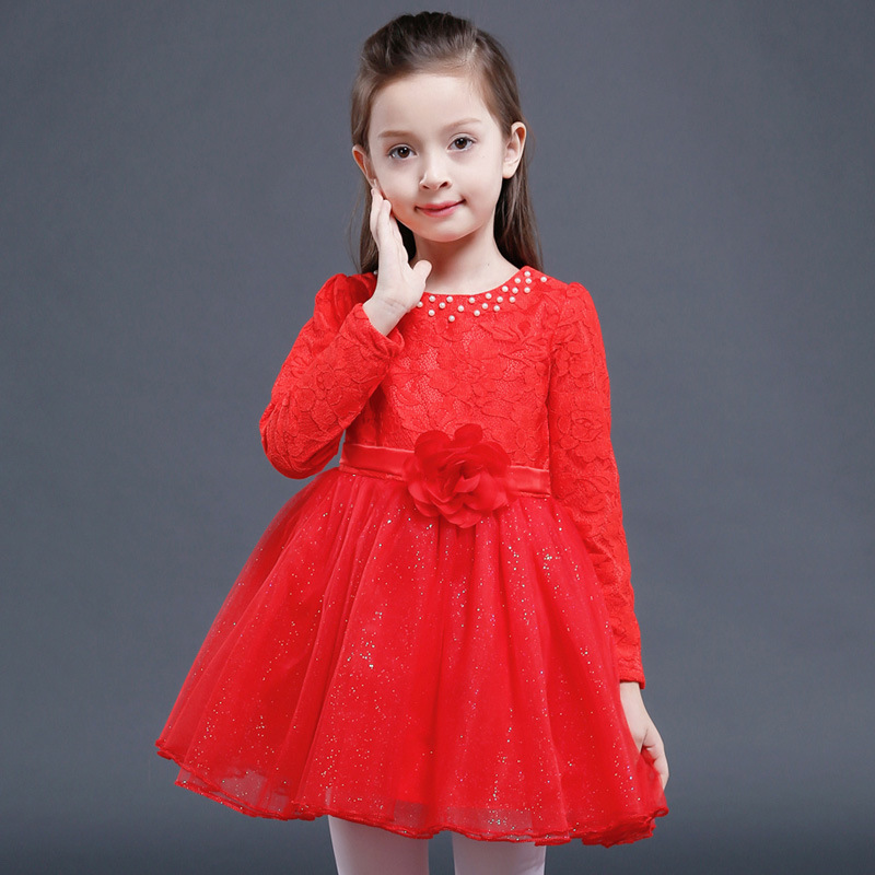 Girls Dresses Long Sleeve 2017 Spring Brand Kids Dress for Girls Clothes 3-14 Year Floral Princess Costumes for Children girls dresses long sleeve 2017 spring brand kids dress for girls clothes baby infant animal flower princess costumes children