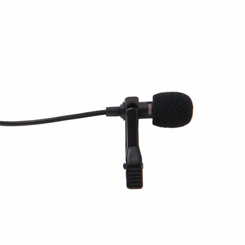 Портативный Clip-on лацкальный лавальерный микрофон 3,5 мм Jack Hands-free Mini Проводной компьютерный микрофон для Iphone Samsung Xiaomi ноутбук