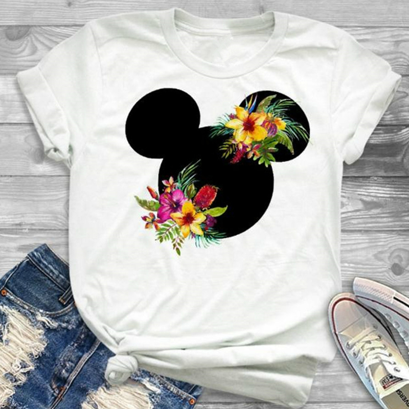 Women Printed Cartoon T-Shirt Girl Tumblr Grphic T Shirt Hipster Ladies Cute Tee Tops