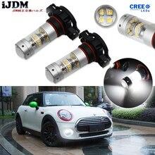 iJDM High Power PSX24W LED 5200s LED Bulbs For MINI Cooper F55 F56 Halogen Headlamp Trim For Daytime Running Lights, 6000K White