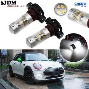 Image 1 - iJDM High Power PSX24W LED 5200s LED Bulbs For MINI Cooper F55 F56 Halogen Headlamp Trim For Daytime Running Lights, 6000K White