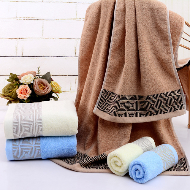 Bath Towels 140x70CM Adults and Baby Bath Towels 100% Cotton High ...