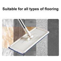 Hot Mop Bucket System for Floor Cleaning 2 in 1 Wash Dry with Washable Flat Fiber Mop Pads LSK99
