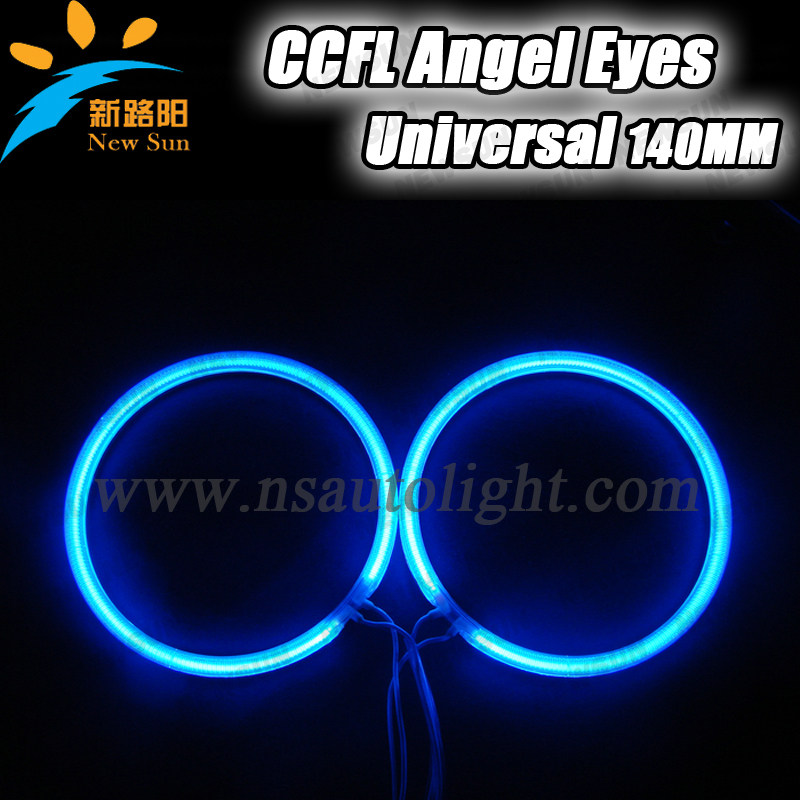 Newest bright 9-16V DC CCFL angel eyes 144mm halo ring day time running lights fog lamp for Toyota car headlights free shipping free shipping ccfl angel eyes for bmw e90 e90 non projector halo ring e90 ccfl angeleyes lights