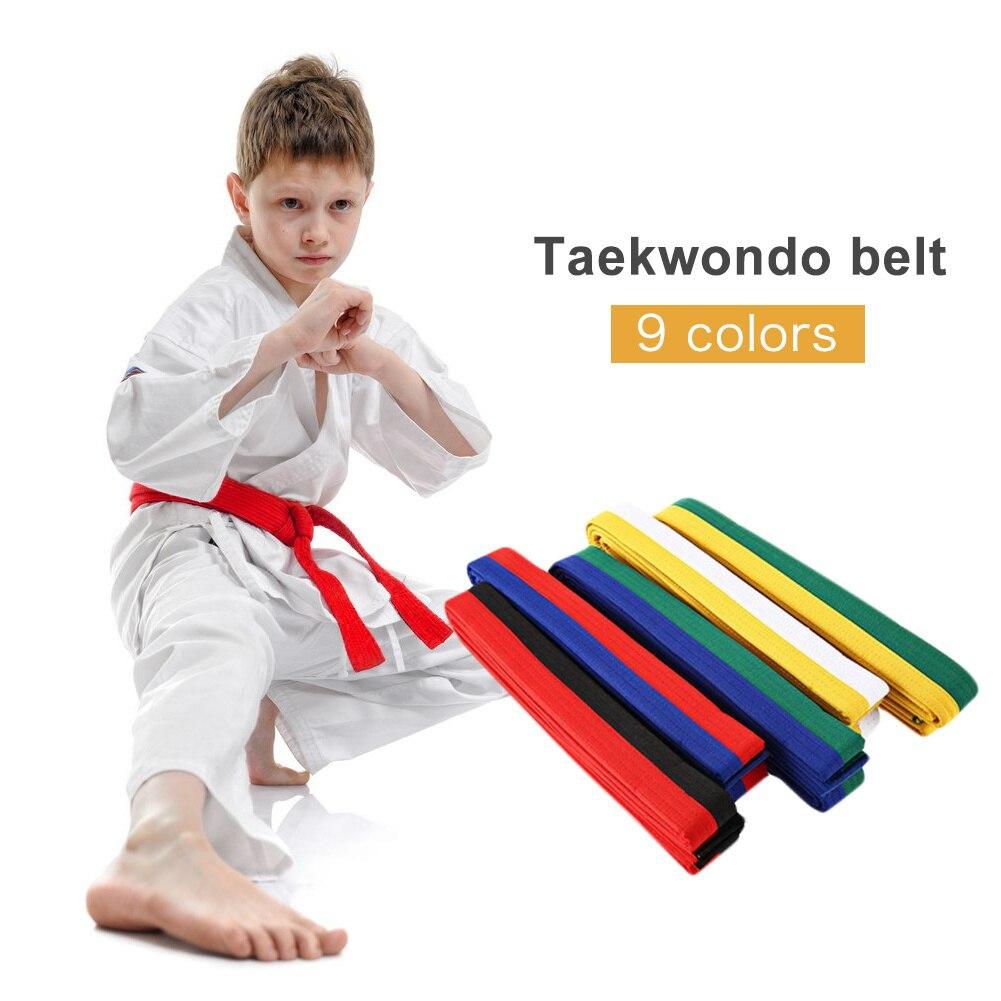 Профессиональный тхэквондо пояс каратэ дзюдо двойной Обёрточная бумага пояс боевых искусств полосатый спортивный ремень для взрослых дет...