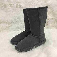 Большие размеры US3-14 австралийские женские угги унисекс Зимние сапоги непромокаемые зимние кожаные высокие сапоги бренд IVG с подарком, 11 цветов!