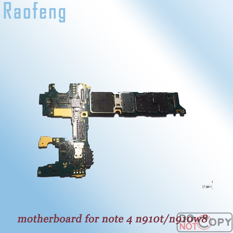 Raofeng L Unlocked For Samsung Galaxy Note 4 N910t N910w8 Motherboard EU Version
