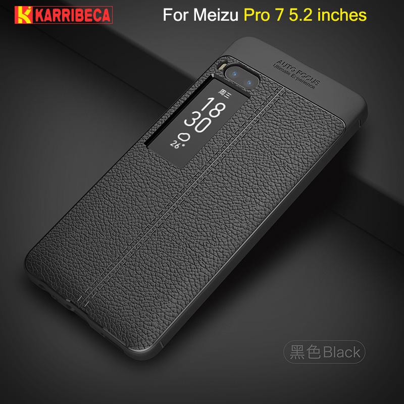 Litchi leather silicone case Meizu Pro 7 (18)