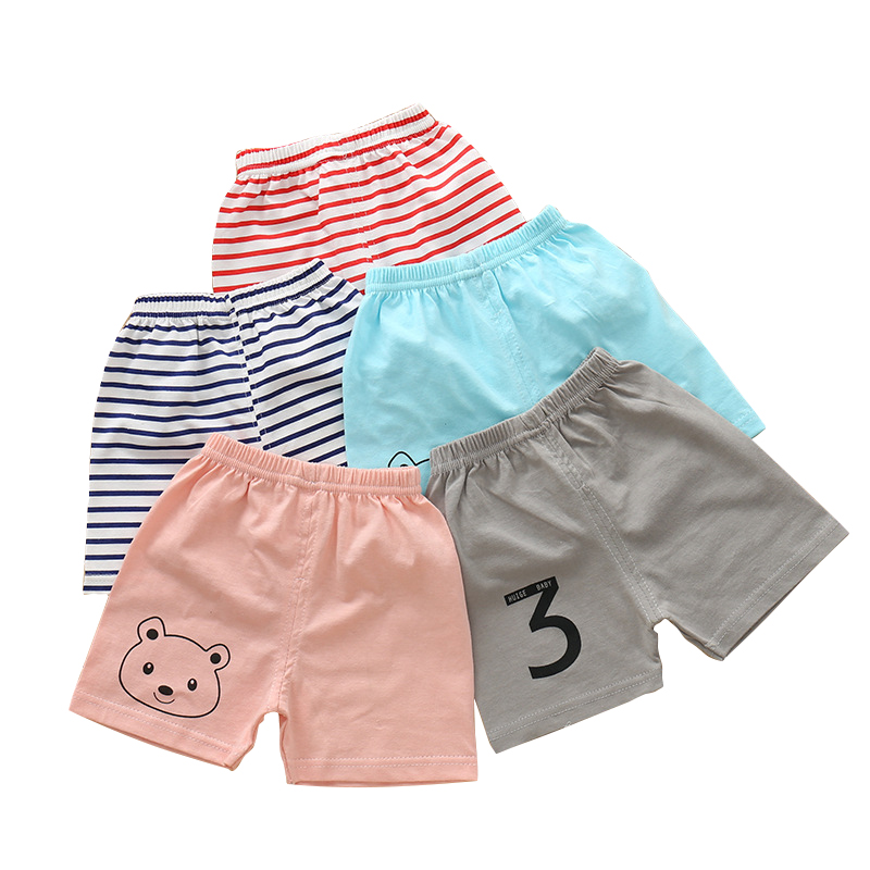 Boys Sports   Shorts   7 Colors Children Boy Summer Cotton Clothes Toddler Baby Casual Costume Cartoon Kids Beach Pants For 9M-5T