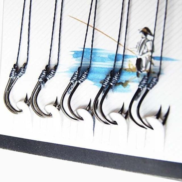 New Arrival 70Pcs(7sizes ) YISHINI Anti-bite Fishing Lead Line Rope Wire+Fishing Hooks Fishing Tackle Lure