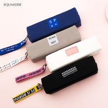 Креативный пенал, простой дизайн, стильные сумки для карандашей на молнии, держатели для ручек, школьные принадлежности, канцелярские принадлежности, пенал для мальчиков или девочек