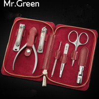 MR.GREEN 7 in1 Manicure Set Stainless Nail Care Set Nail Clippers Cuticle Utility Manicure Set Tools Nail Clipper Grooming Kit