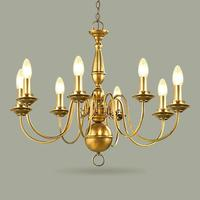 Copper Primitive Cafe Light 6 8 Arms Retro Traditional Chandelier For Dining Room Kitchen Rural Candle