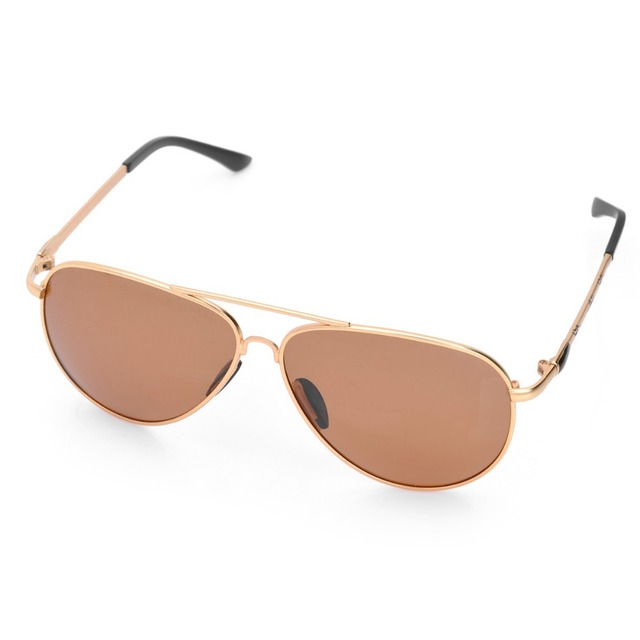 a69ddbe4803 Classic Titanium UV400 Aviator Sunglasses Golden Frame Brown Lens And Black  Frame Dark Green Lens Men Polarized 143484 143570 M. Price