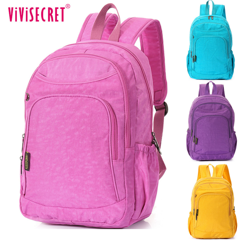 ФОТО 2017 High quality Waterproof Pure Candy color 15 inch Laptop Teenagers School Satchel Bags Backpacks Mochila Boys Girs Children