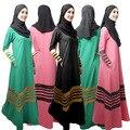 Vestidos de Las Mujeres de Malasia Abayas islámico Musulmán Túnicas En Dubai Turco Damas Ropa Mujer Vestidos Musulmanes Dubai Kaftan Dresses