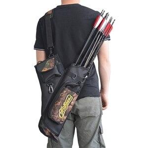 4 трубки колчан стрелы для охотничьего лука сумка охотничьи стрелы держатель сумка с регулируемым ремешком Охотничьи аксессуары