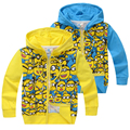 2016 Minions Autumn Jacket Hoodies Clothes Costume Sweatshirts Pullover Boys Cartoon Clothing Kids Minion For Baby Boys Girls