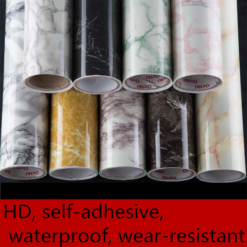 Imitation marble stickers pvc pvc self adhesive for Waterproof wallpaper paste
