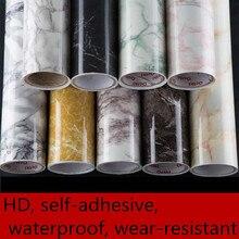 Imitation marble stickers PVC self - adhesive wallpaper waterproof wear - resistant furniture renovation stickers cabinets-632 цены онлайн