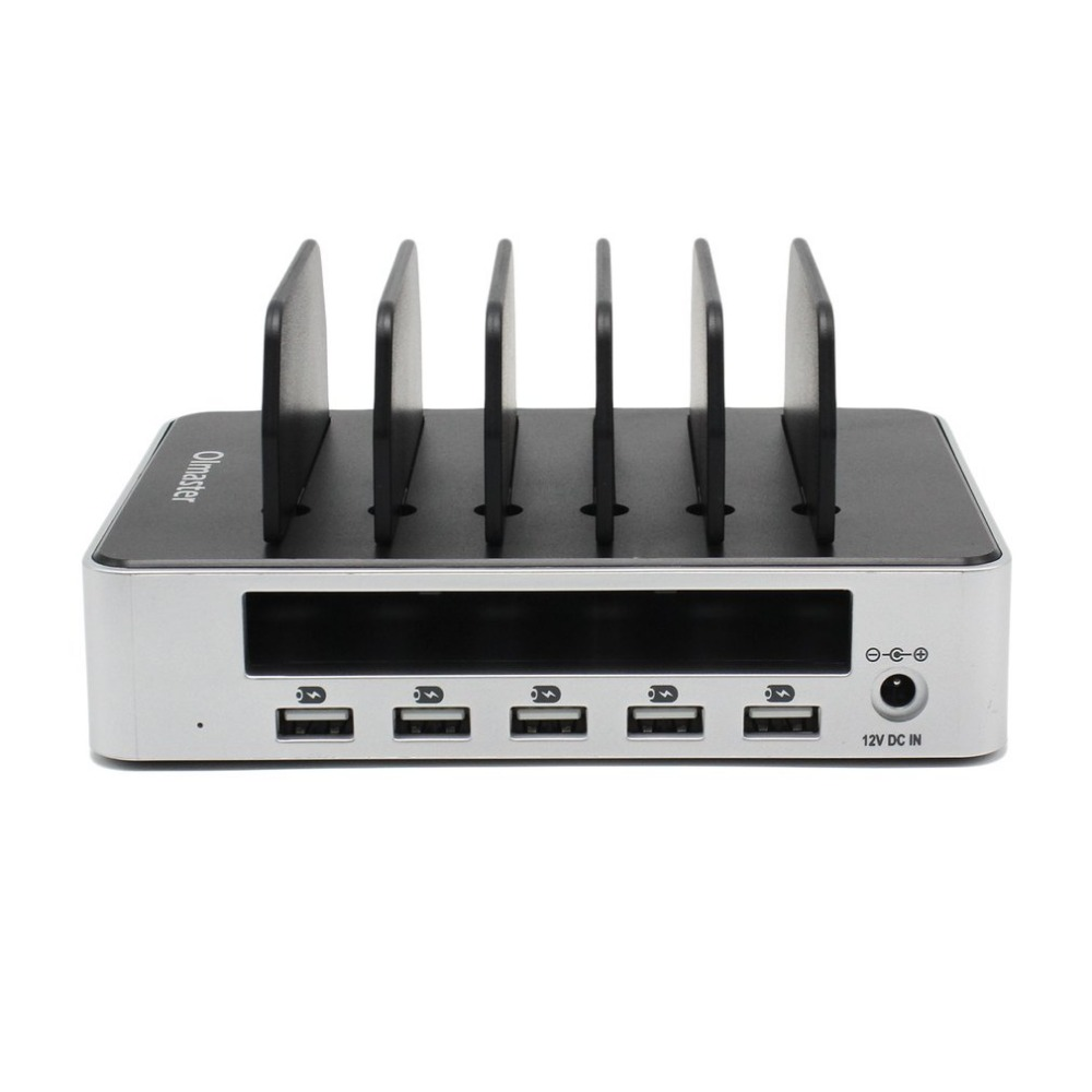 Olmaster Charging Dock 5 USB Ports Charger Multifunction USB Hub With Stand Fast Charging Universal for Phone Tablet orico usb hub 7 ports 5 gbps usb3 0 hub splitter support bc1 2 charging with 12v dc charging port