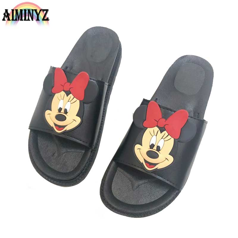 Mode Mickey Slippers Muis Dames Zomer Sandalen Strand Cartoon - Damesschoenen - Foto 1