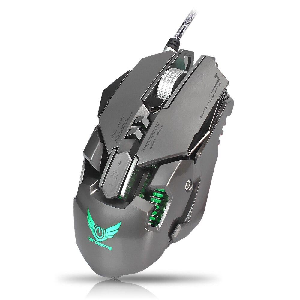 Ordinateur USB filaire souris de jeu compétitive 7 boutons programmables mécanique Macro définition programmation jeu souris