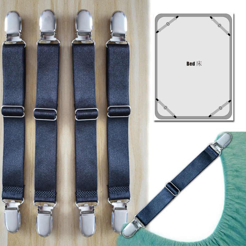 ใหม่ Stay Suspenders โซฟาผู้ถือเตียงผ้าลินิน Slip คลิปยึด Suspenders เสื้อวงเล็บยืดหยุ่น 4 ชิ้น/เซ็ต CDJ04