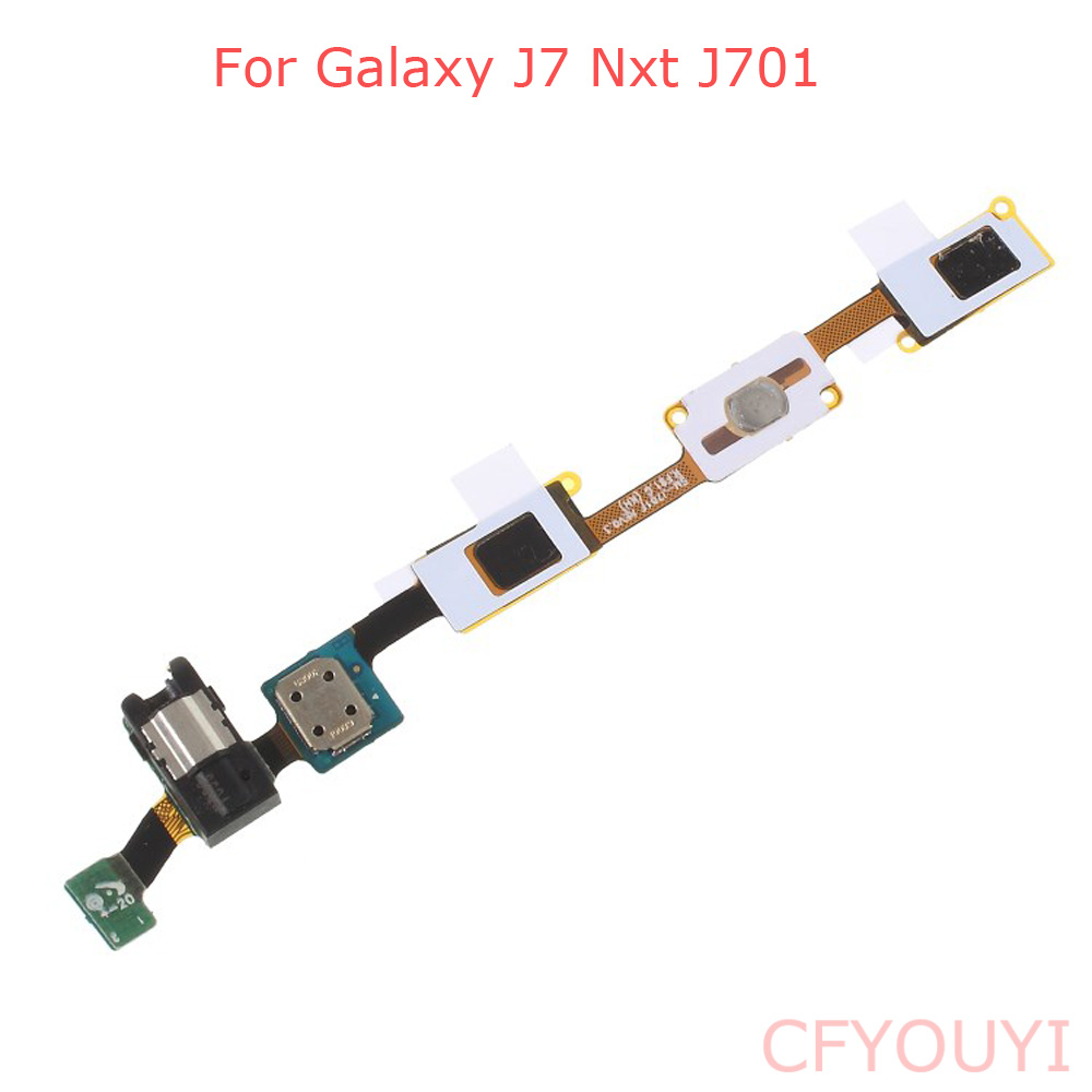 For Samsung Galaxy J7 Nxt J701 Home Button Flex With Earphone Headphone Jack Flex Cable