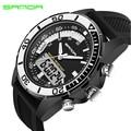 SANDA Fashion Watch Men Waterproof LED Sports Military Watch Shock Resistant Men's Analog Quartz Digital Watch relogio masculino