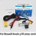 Para Renault Scenic 3 III 2009 ~ 2016/Posterior Del Coche Con Cable O Inalámbrica Cámara de visión/RCA HD Visión Nocturna del CCD/Lente Gran Angular cámara