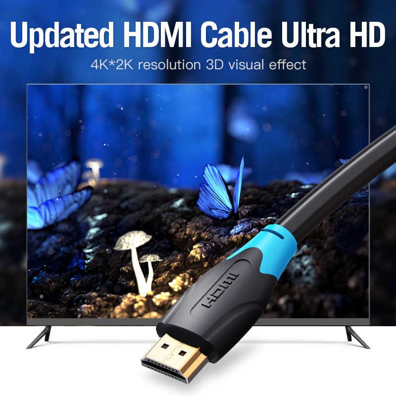 Vention Высокоскоростной HDMI 2,0 кабель 4 k 3D 60Hz HDMI к HDMI Мужской кабель для HD tv ЖК-дисплея ноутбука PS3 проектор компьютерный кабель