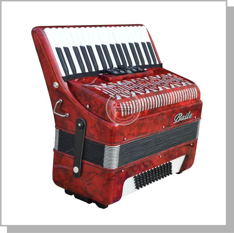 Baile accordion 34 buttons 60 bass accordion Black or Red color