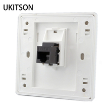 Female To Female CAT6 RJ45 LAN Faceplate 86x86mm Internet Plug Outlet