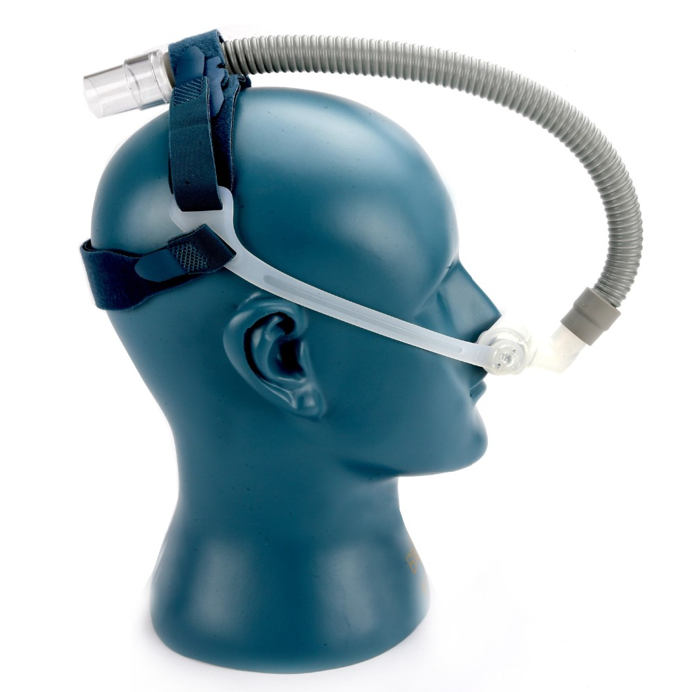 BMC CPAP Masks with Nasal Pillow and Belt for Treatment of Snoring and Apnea