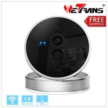 Wireless IP Camera Wifi 1280*720P P2P Card Camera Two Way Voice 10m Night Vision 128G Micro SD Card Storage Motion Alarm TIM102E