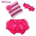 2016 Summer Set For Baby Clothing Girl 0-2 Year Newborn Bra Pantie Crochet Mesh Boob Tube Top Bloomers Children Shorts 3Pcs Sets