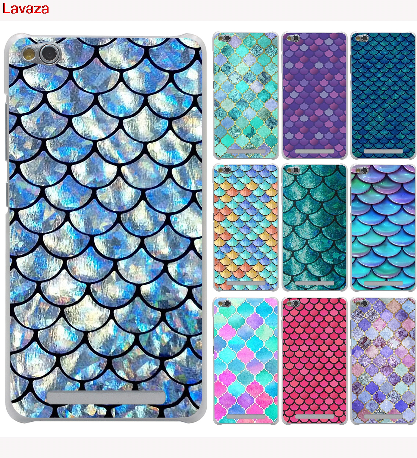 Lavaza Beautiful Mandalas Mermaid Scales Hard Case for Xiaomi Redmi 4X Mi A1 6 5 5X 5S Plus Note 5A 4A 3 3S 4 4X Pro Mi5X Mi6