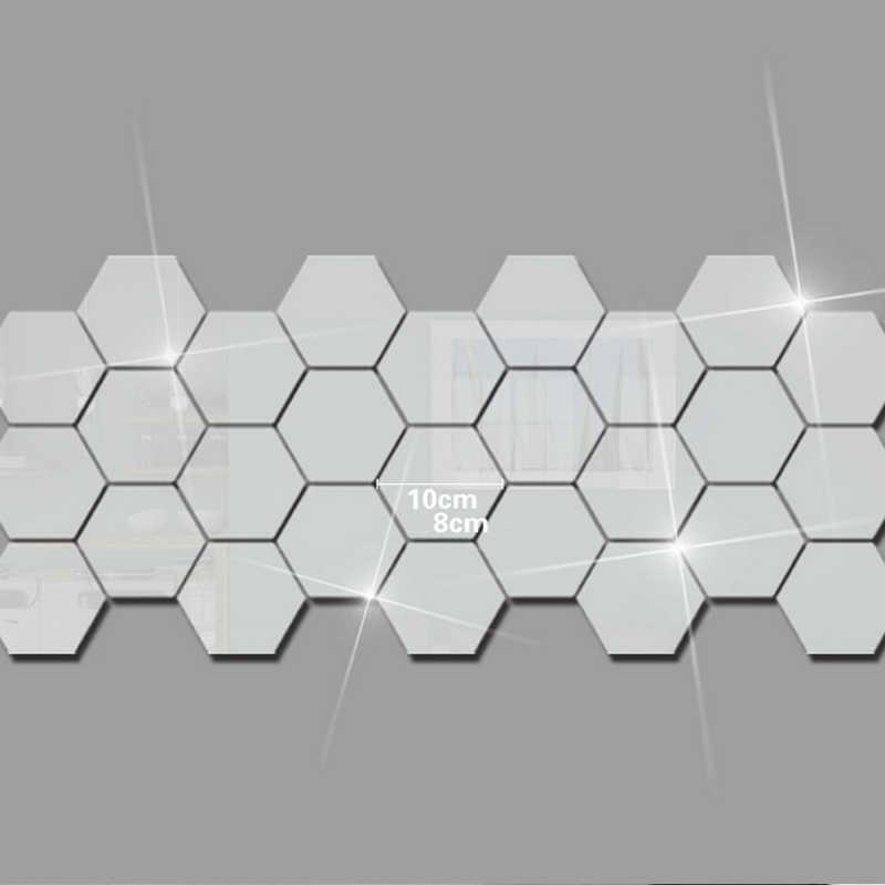 12 шт./компл. DIY 3D зеркало шестиугольник виниловая Съемная стена Стикеры наклейка домашние украшения для комнаты для Гостиная крыльцо TB распродажа