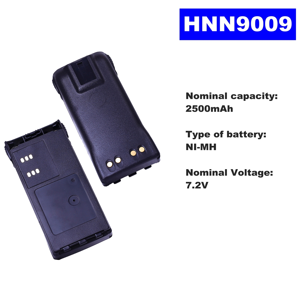 7.2V 2500mAh NI-MH Radio Battery HNN9009 For Motorola Walkie Talkie GP320/340/338/360/380 PTX760/960 PRO-5150 Two Way Radio