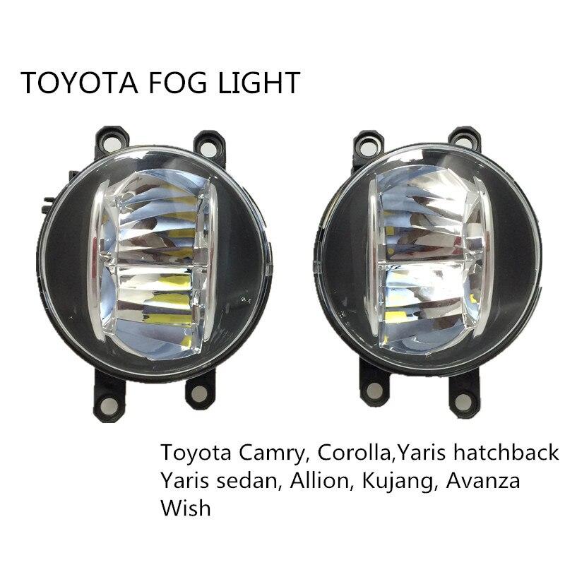 FÜHRTE nebellicht 4 inch runde 20 Watt für toyota Camry Corolla Yaris LED DRL nebelscheinwerfer für Previa RAV4 auto nebel lampe