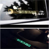 Universal Car Luminous Temporary Parking Card Plate Sucker Night Phone Number Card for Car Stop Parking Sign Notice Number