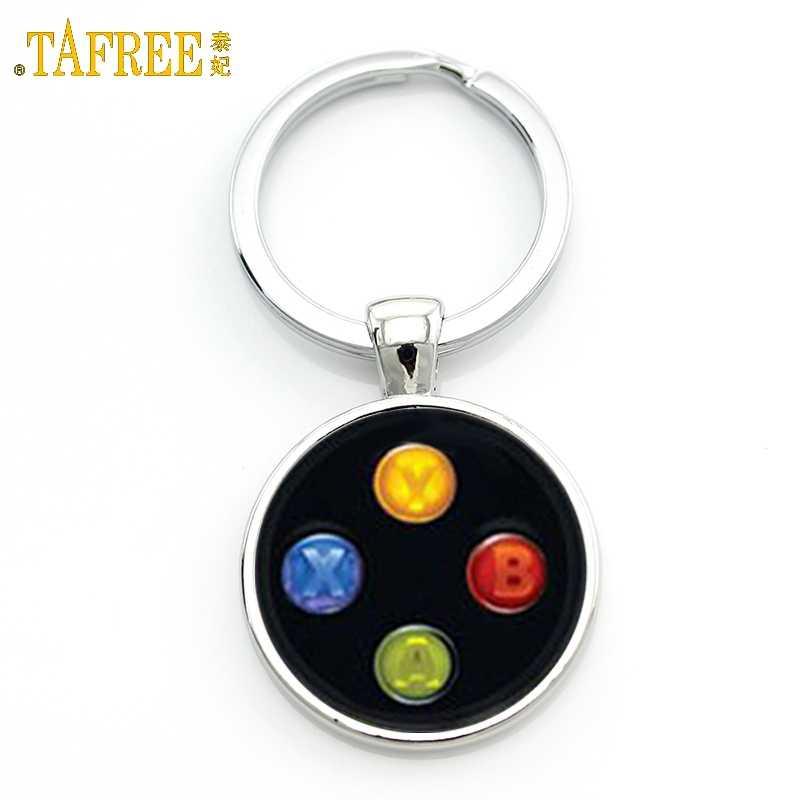 Tafree Видео игровой контроллер брелок для фотографии geeky бойфренд подарок серьги купольная брелок кольцо KC184