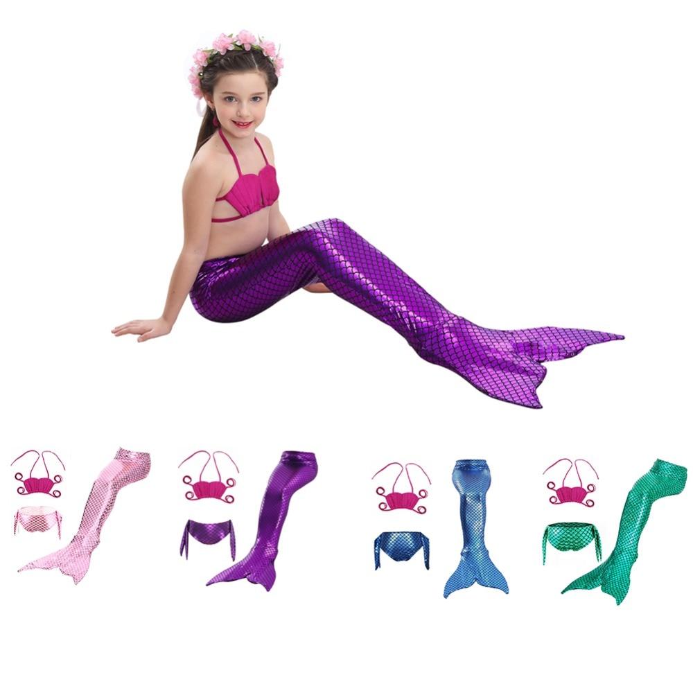 bikini 3 piece set Mermaid Tail Style swimsuit for girls child bikini kids swimwear child swimsuit separate female bikini 2018 hw2016 new kids girls fancy mermaid tail bikini set swimwear swimsuit swimming costume new brand