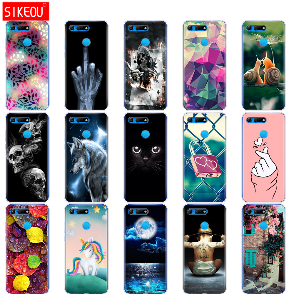 Case For Huawei Honor View 20 V20 Case TPU Funda Soft Silicone Cover For Honor V20 Capa Cute Animal Pattern Silicone Phone Cat