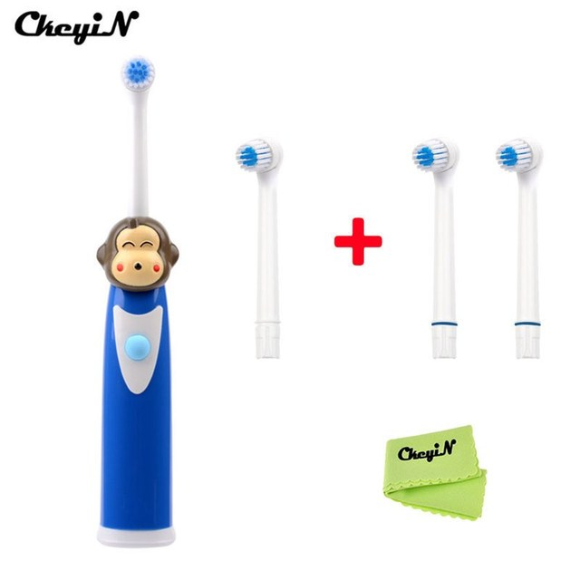 ElectricTeethbrush Rotating brush Whitening Tooth for Kids children Tooth Brush Oral Hygiene Dental Care+ 4pcs Toothbrush heads