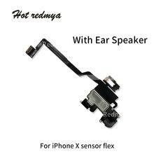 купить Original Light Sensor Flex Ribbon Cable For iPhone X Ten 5.8 With Earpiece Ear Speaker Flex Cable Replacement Parts дешево