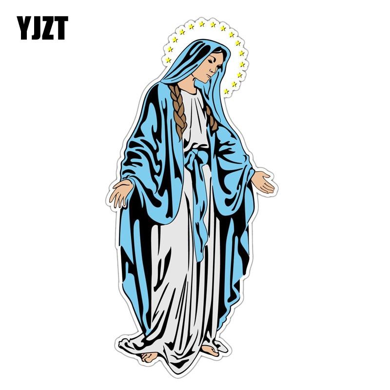 Automobiles & Motorcycles Car Stickers Yjzt 7.1cm*15.2cm Saint Mary Jesus Mother God Pvc Motorcycle Car Sticker 11-00373
